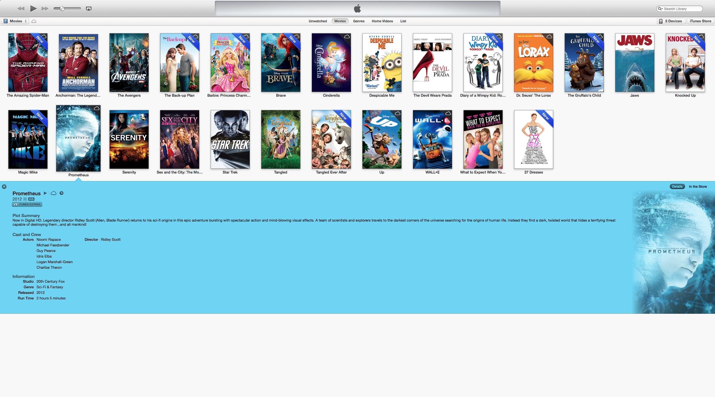 iTunes 11 movie view