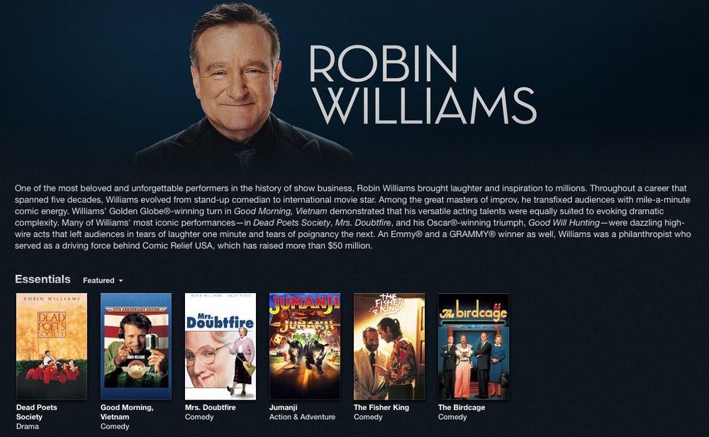 iTunes - Robin Williams Tribute