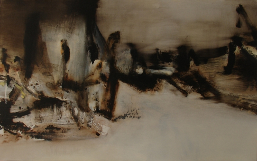 On Lighter Ground  , 2007, acrylic on canvas, 120 x 220cm
