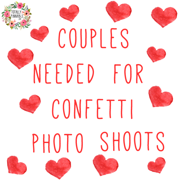 totally pinnable confetti shoot couples required