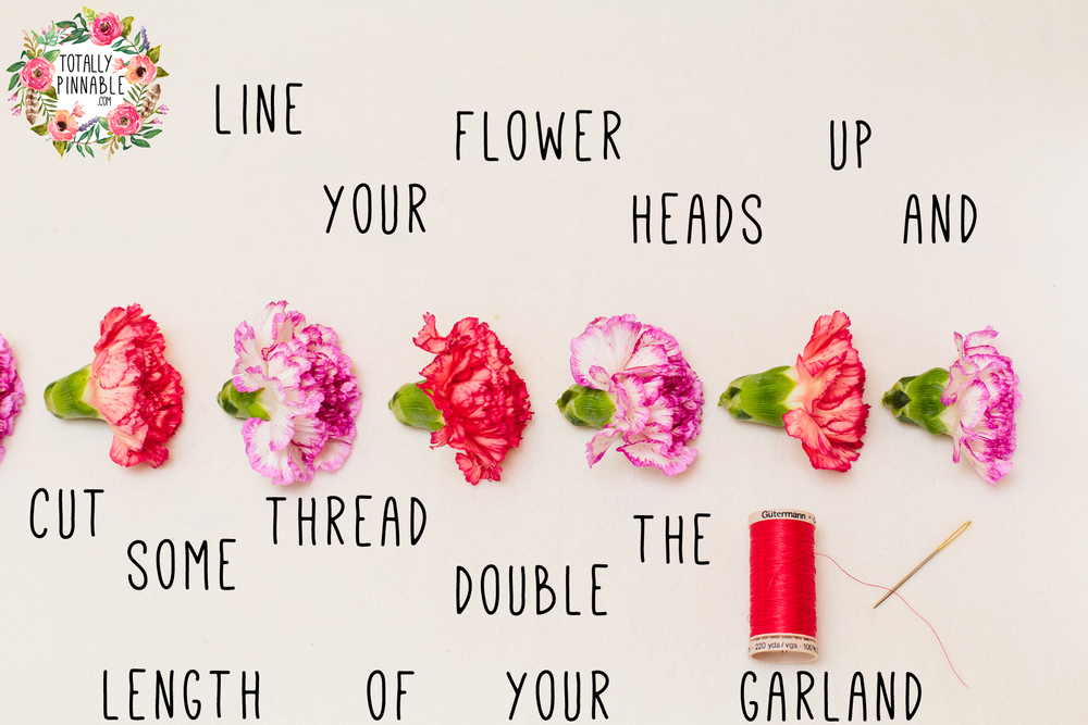 easy carnation garland DIY from www.totallypinnable.com