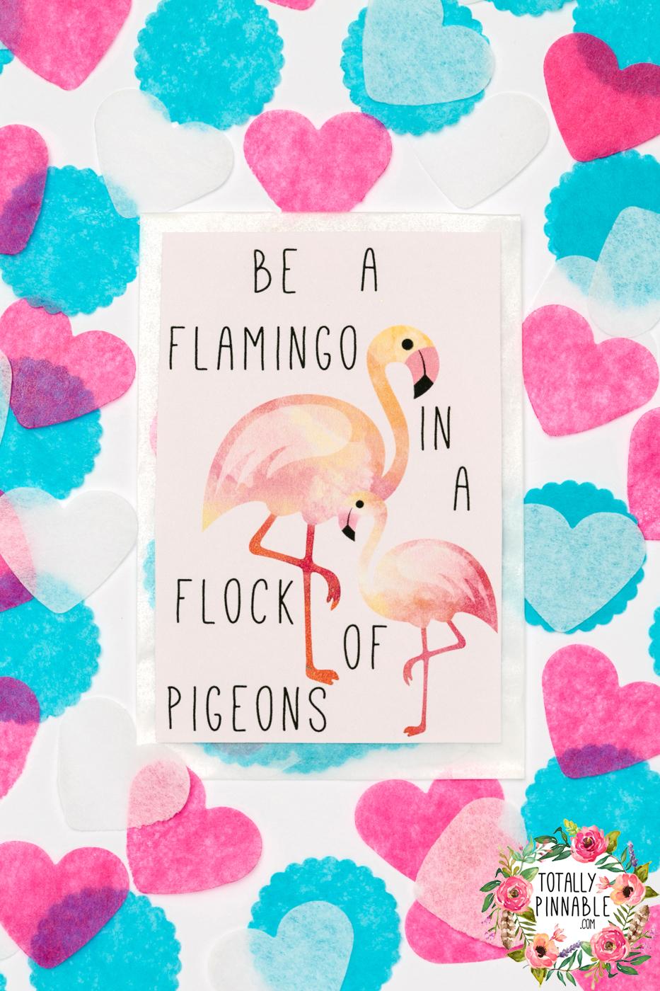flamingo confetti glassine envelope by totallypinnable.com