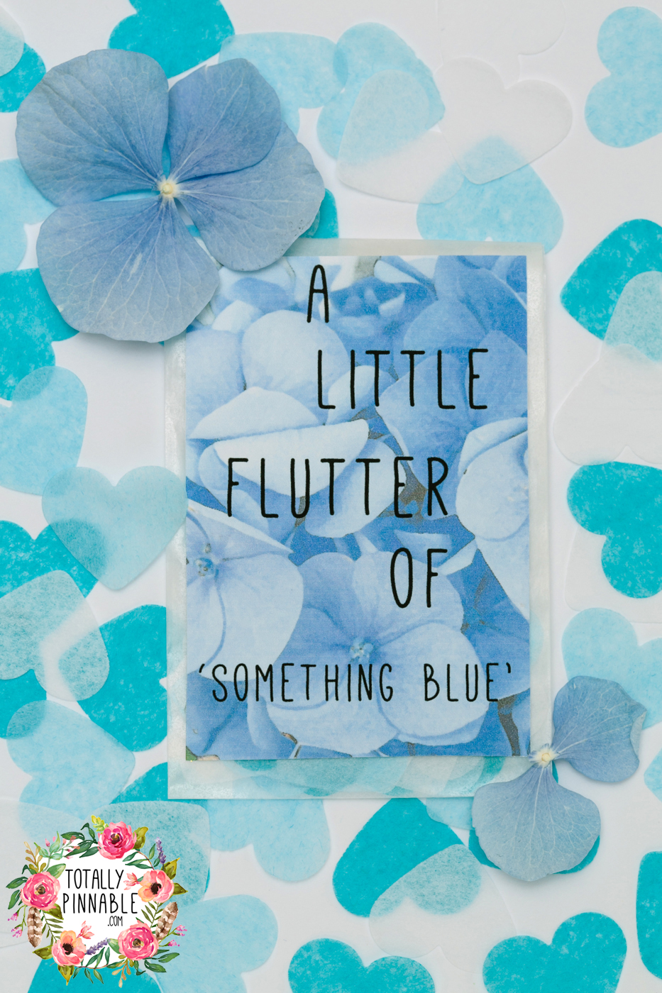 'something blue' for your wedding day confetti envelope by Totallypinnable.com