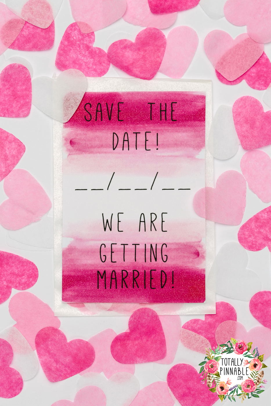 'save the date' confetti filled envelope by totallypinnable.com