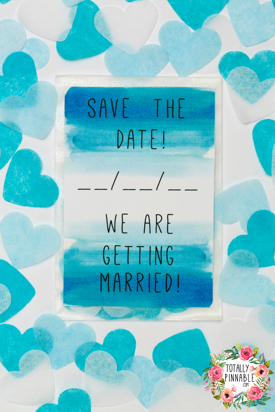 'save the date' we are getting married confetti filled envelope by totallypinnable.com