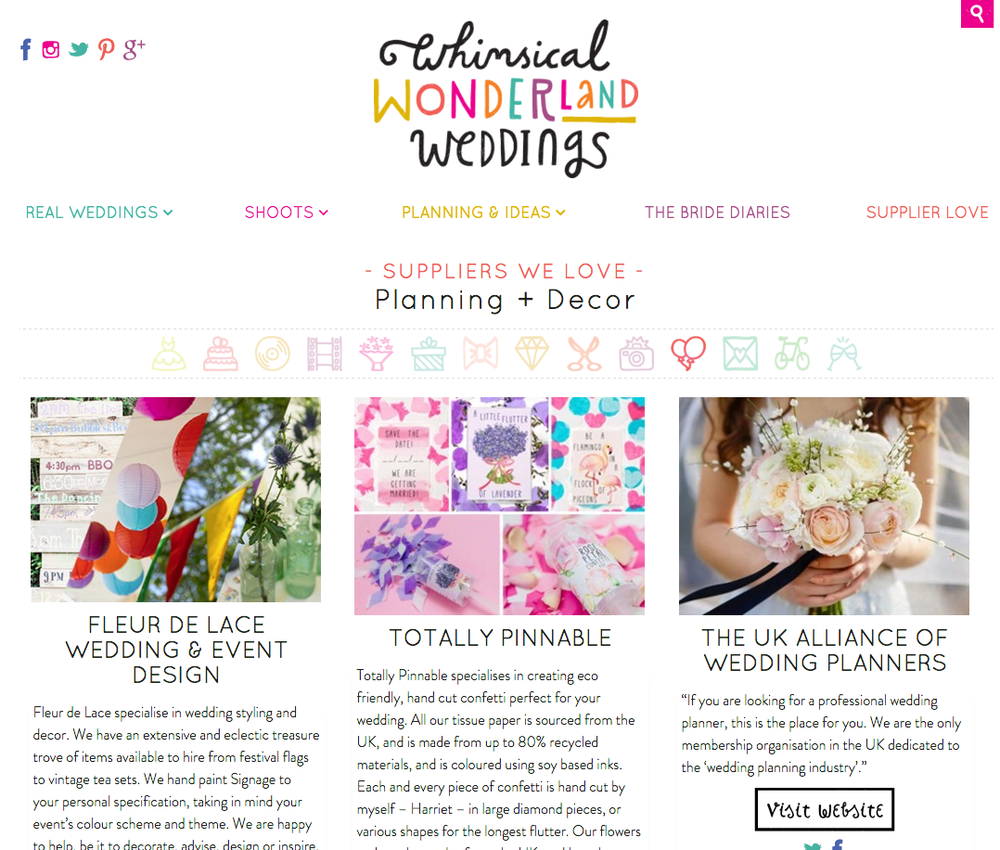 www.totallypinnable.com now on Whimsical Wonderland Weddings! Buy your eco friendly confetti from us!