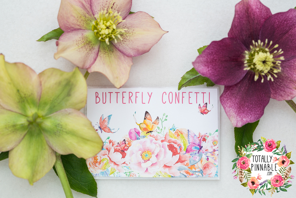 www.totallypinnable.com new butterfly wedding confetti pure white or blue ombre. Eco friendly, biodegradable and hand made!