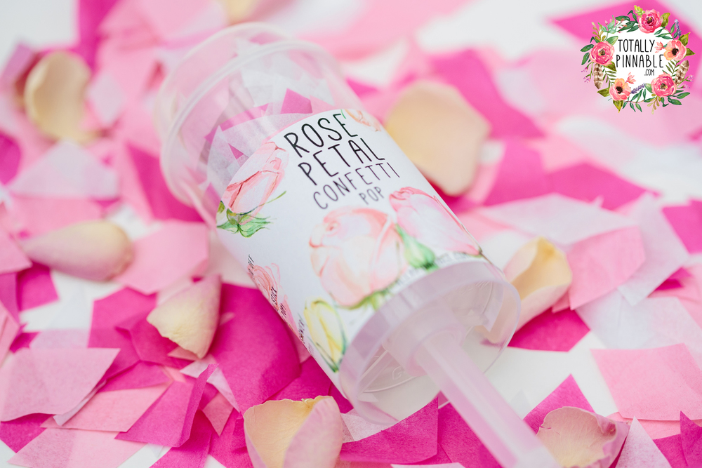 www.totallypinnable.com rose petal pop perfect for your wedding! hand cut confetti, eco friendly and biodegradable!