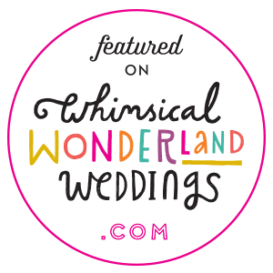 www.totallypinnable.com featured on the Supplier Love List on Whimsical Wonderland Weddings!