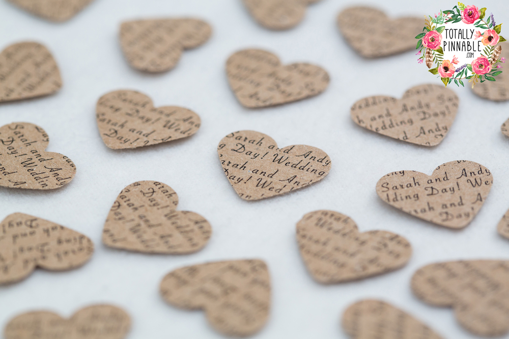 www.totallypinnable.com personalised table confetti perfect for your wedding or party!