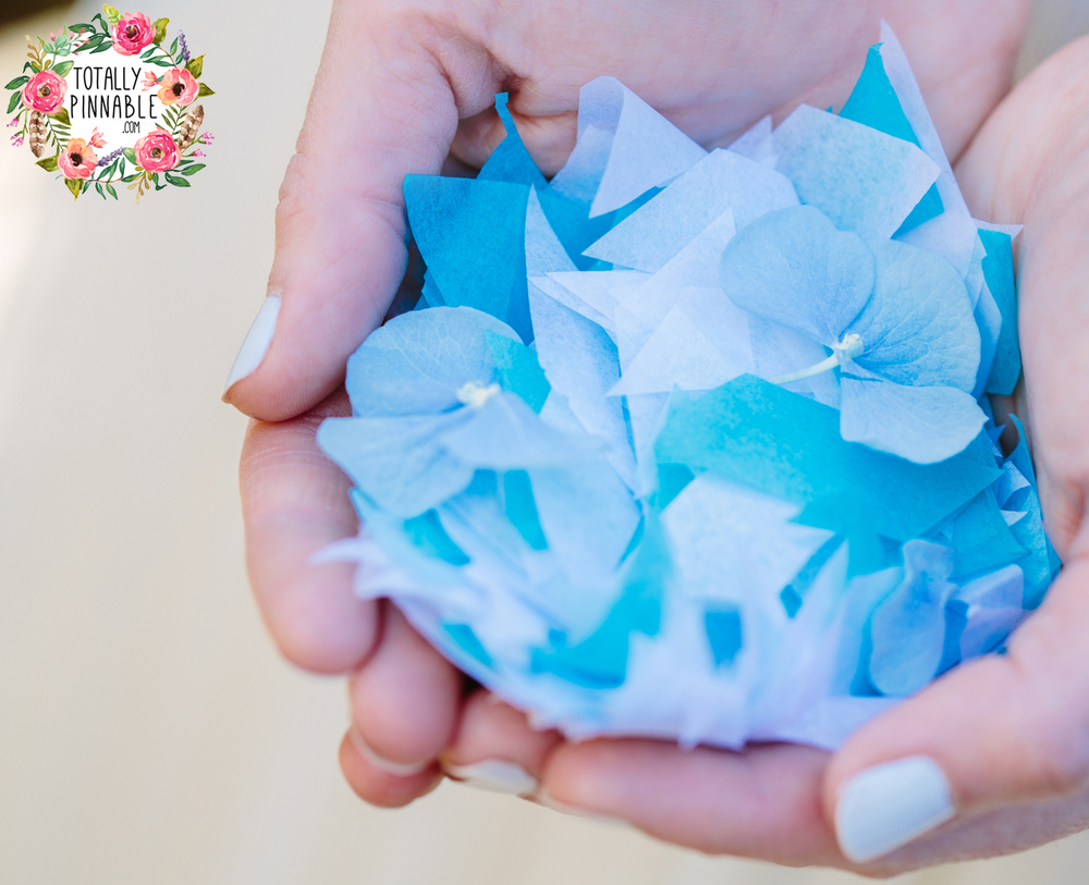 www.totallypinnable.com NEW tissue paper wedding confetti by the handful! Eco friendly, venue safe, biodegradable.
