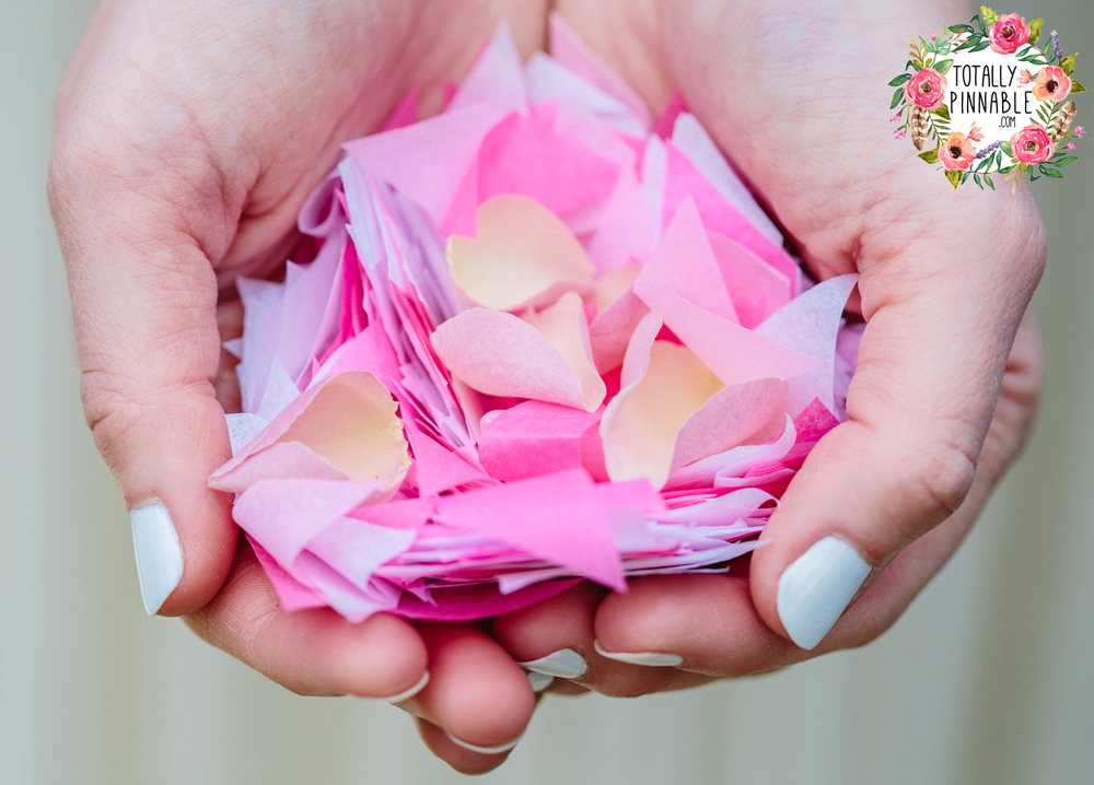 www.totallypinnable.com NEW tissue paper wedding confetti by the handful. Eco friendly, venue safe, biodegradable.