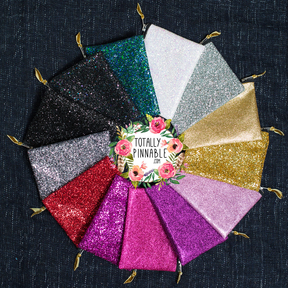 www.totallypinnable.com glitter clutch bags