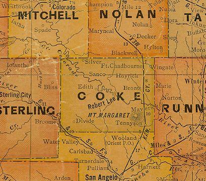 Coke County, Texas USA