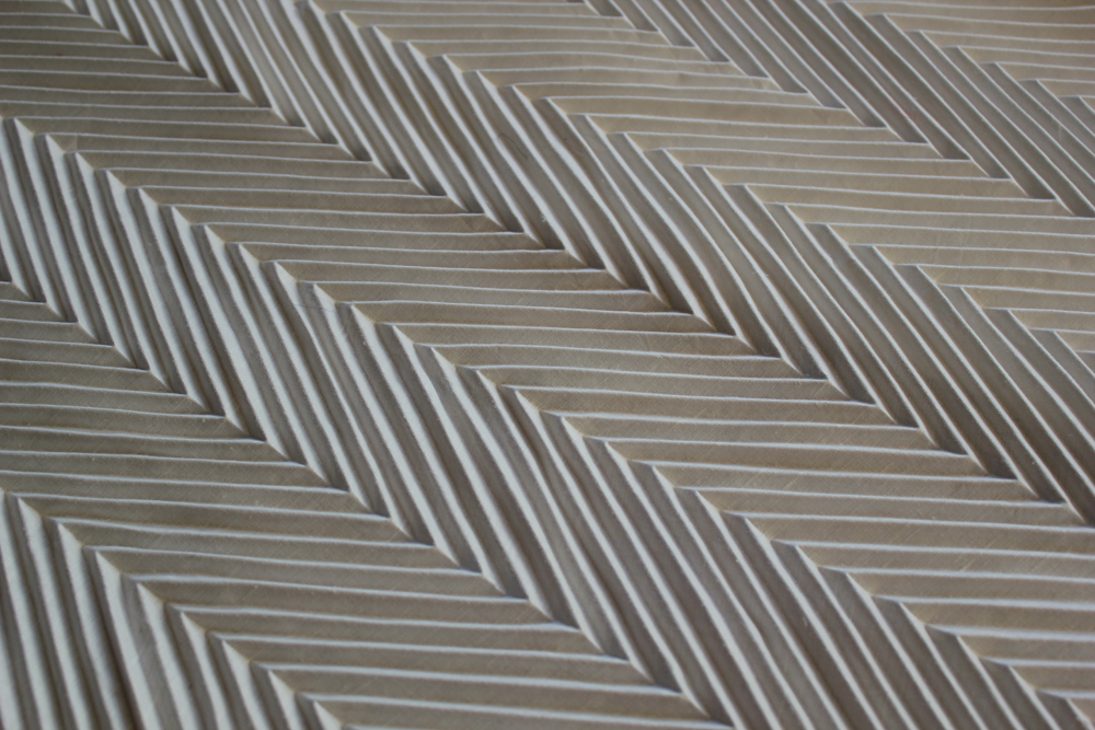 10cm CHEVRON PLEAT