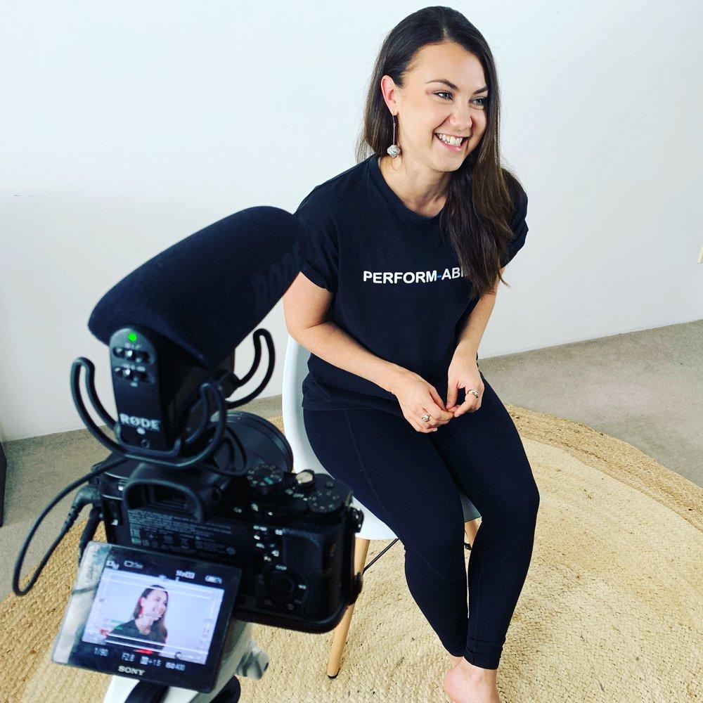 Miranda Daisy on set in Sydney
