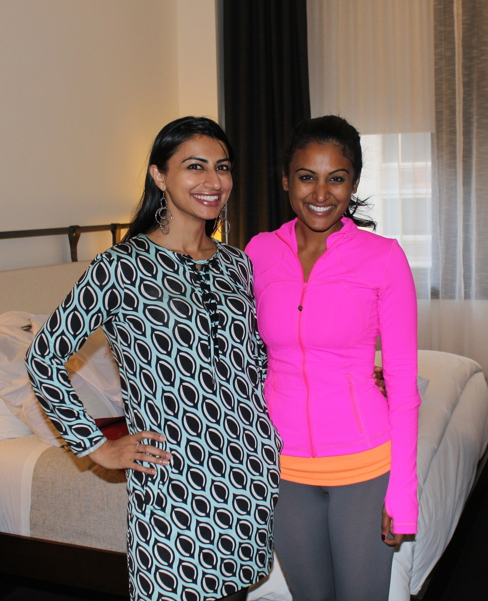 Shaffali M. with then reigning Miss America, Nina Davuluri visiting NYC- she is also passionate about living a wellness lifestyle!