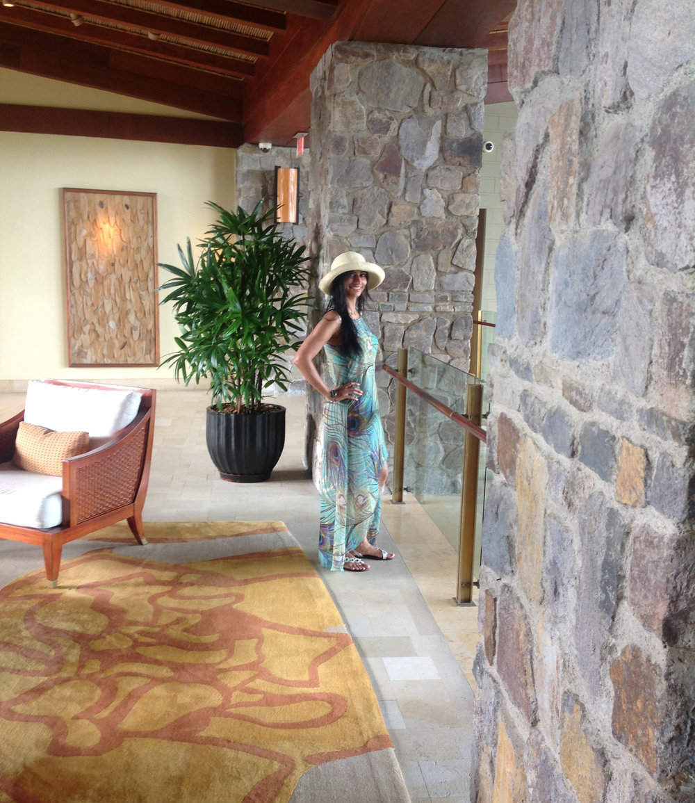Me the day I was beginning a writing workshop in Costa Rica, at the Four Seasons…it was so inspiring!