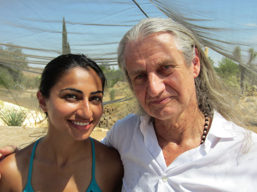 Mark Whitwell and I after his AMAZING yoga class in the middle of Joshua Tree Desert – Bhaktifest September 2011. (I've got my post yoga high and glow)..