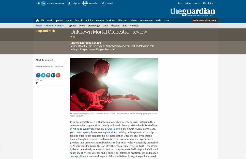 Unknown Mortal Orchestra - The Guardian