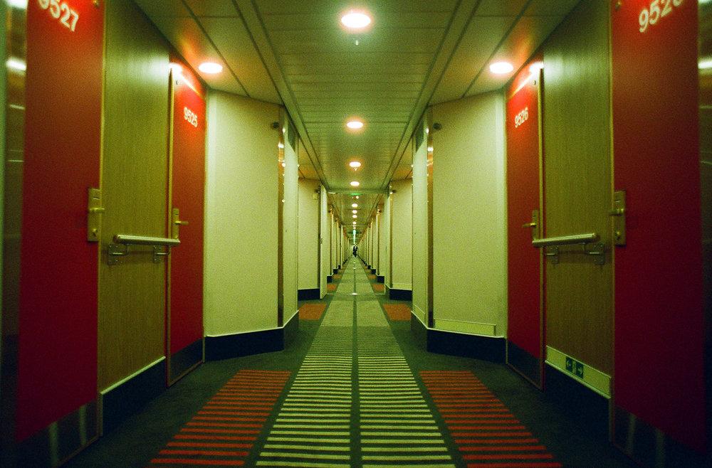 Ferry cabin hallway