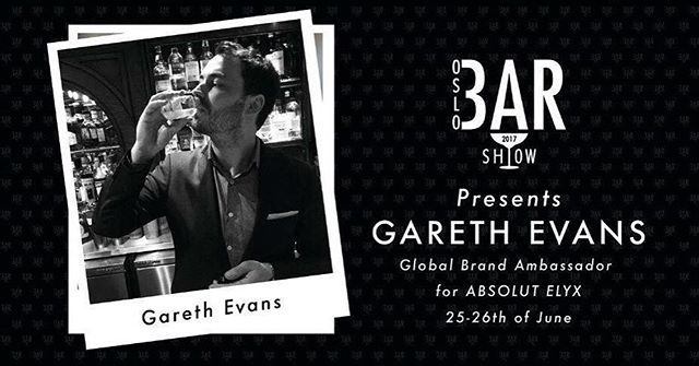 We said that it is a Swedish take-over at Oslo Bar Show this year and it continues. This guy does not have a Swedish passport - but he is the Global Brand Ambassador for ABSOLUT ELYX. The one and only Mr. Coppertunity - Gareth Evans. #oslobarshow2017 #absolutelyx #coppertunityknocks #pernodricard #oslobarshow