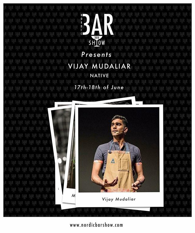 Next up in our line up for this year is a bar which is truly in the forefront when it comes to sustainability, foraging and minimizing wastage. We can't wait to listen to how Vijay Mudaliar and his bar NATIVE in Singapore works day by day. #nordicbarshow2018 #sustainability #nativebarsg