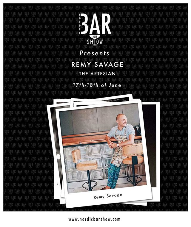 Just one year ago today we announced this guy to be a part of the program for last years Oslo Bar Show - so what better than to celebrate with the same announcement for this years Nordic Bar Show? One of our favorite personalities in the industry - Mr. Remy Savage.