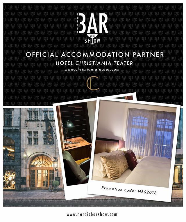 We have our Official Accomodation Partner this years Nordic Bar Show. Thank you to Hotel Christiania Hotel for taking care of us during these busy days. The Promotion Code is valid from Friday 15th of June already - to all of you that wants to come earlier to experience Oslo before the event begins on Sunday 17th of June. But be fast - it will get full! #nordicbarshow2018