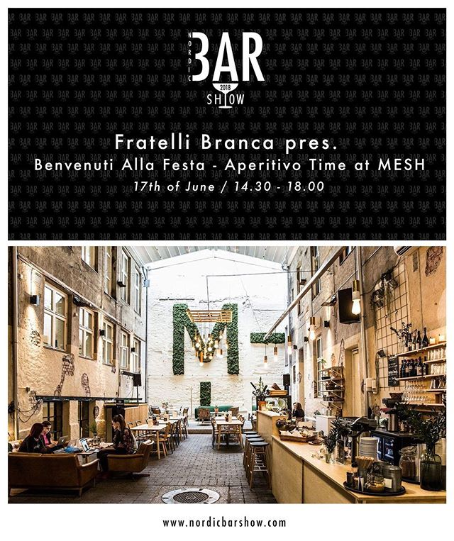 We needed a small welcome gathering to Nordic Bar Show in June and what better way than to serve up some of the favorite liquids of bartenders together with some food. Fratelli Branca wishes you welcome at MESH on Sunday 17th from 14.30 - «Benvenuti Alla Festa - Aperitivo Time» #nordicbarshow2018 #welcomingparty #fratellibranca