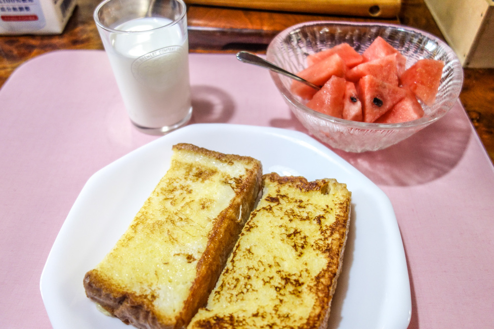 FRENCH TOAST.   WATERMELON.
