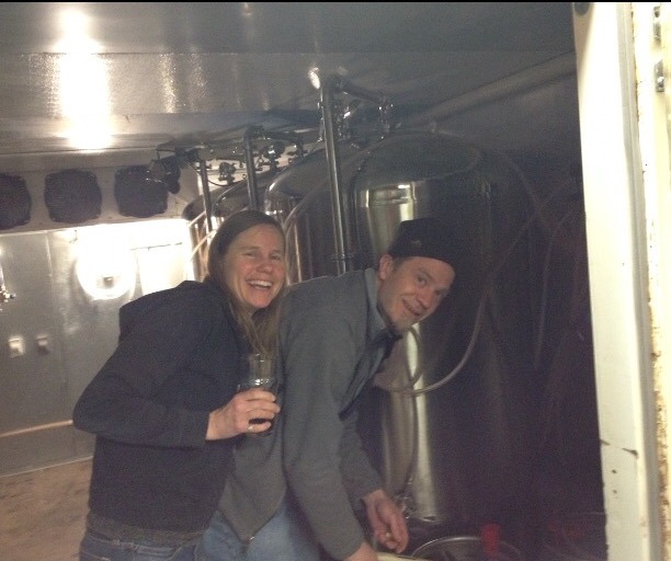 Dan and Anne - Owners, Head Brewer and Assistant Brewer