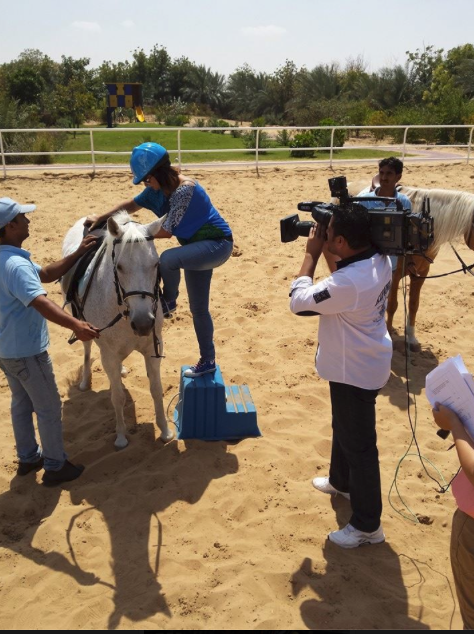 Filming at Al Tamimi Stables.png