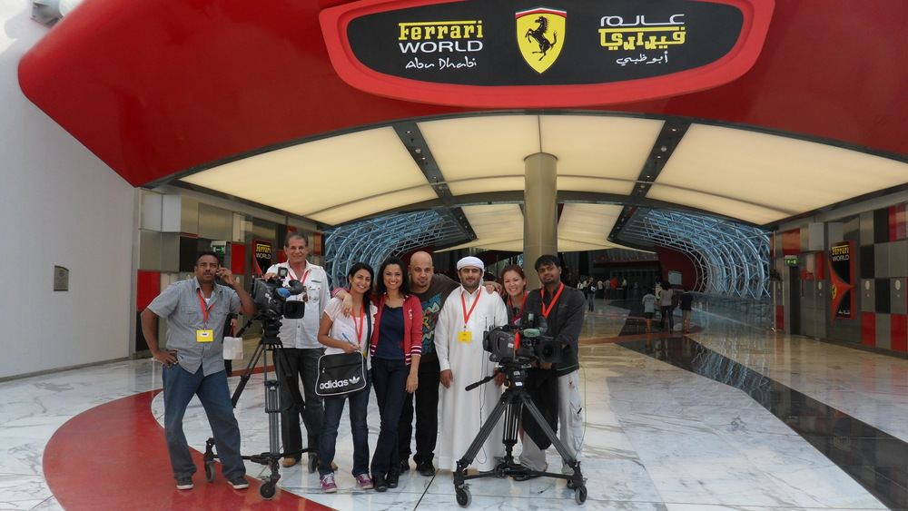 Filming at Ferrari world in Abu Dhabi  2.JPG