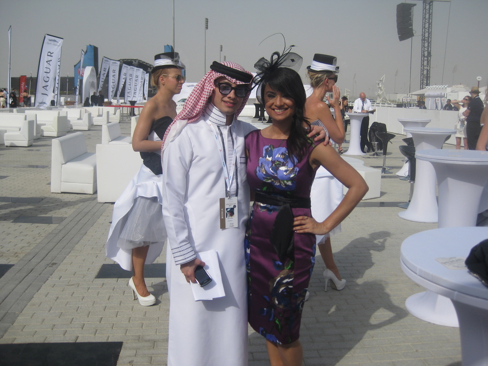 Filming at the Dubai World Cup .JPG