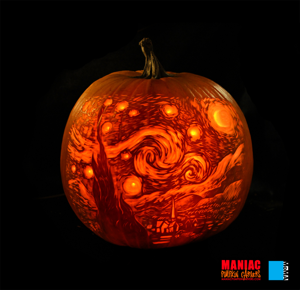 Maniac pumpkin carvers for Awesome pumpkin drawings