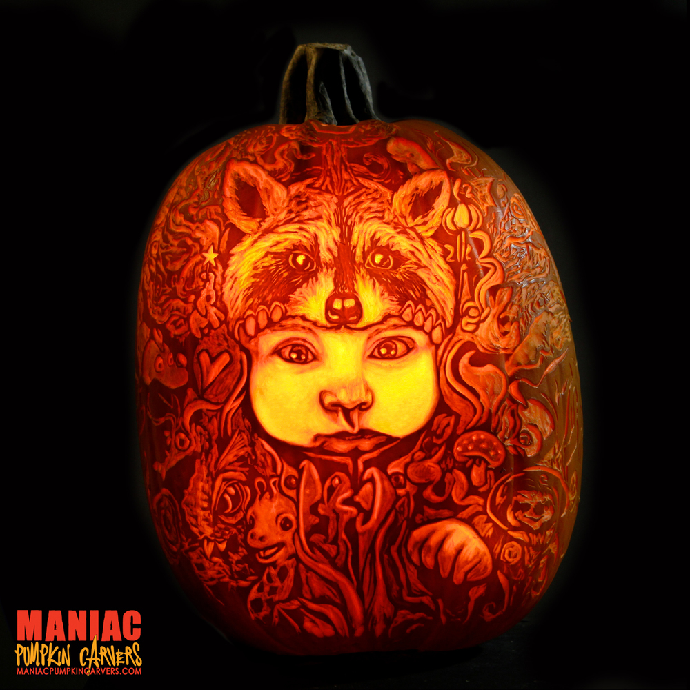 "Marc Evan, ""Star Child 113"" on XL pumpkin."