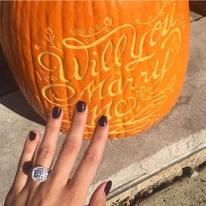 She said yes! We love when our pumpkins help bring people together.
