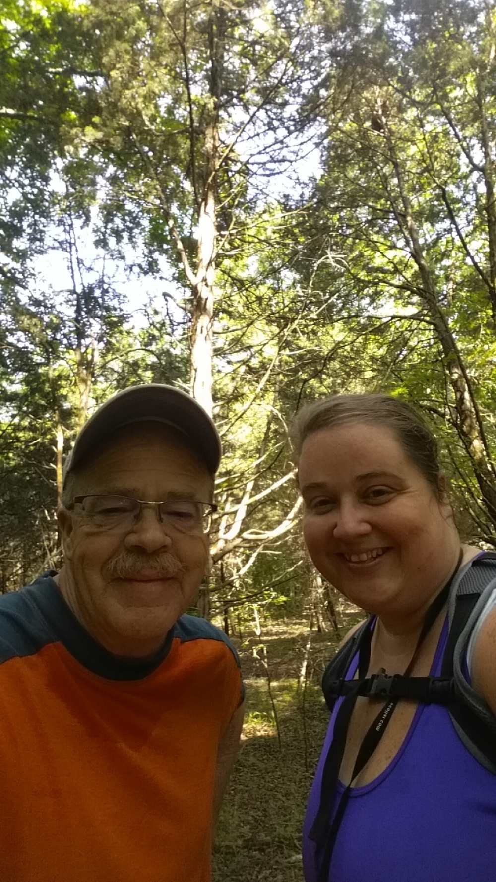 Hiking with Dad on Fathers day, we make a great team.