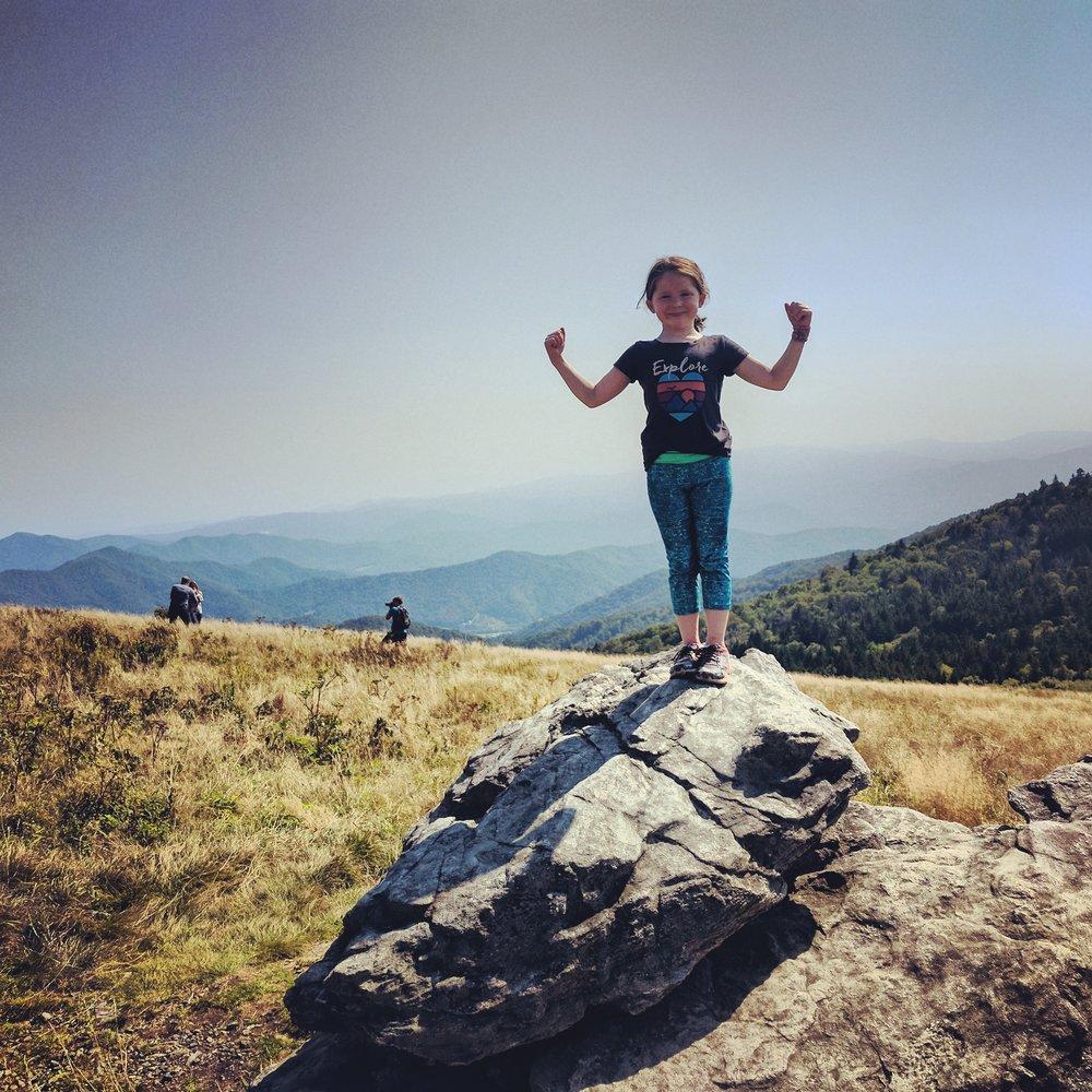 Strong Hiker Girl.