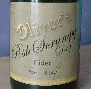 We first cider we try is Oliver's Posh Scrumpy