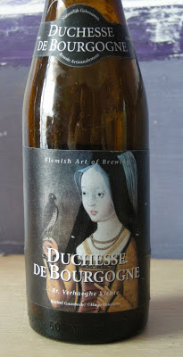 Next up is the intriguing and alluring Duchesse De Bourgogne - The beer and the lady herself.  Duchesse De Bourgogne is available in most good beer stockists - We got ours from the Beer Boutique.