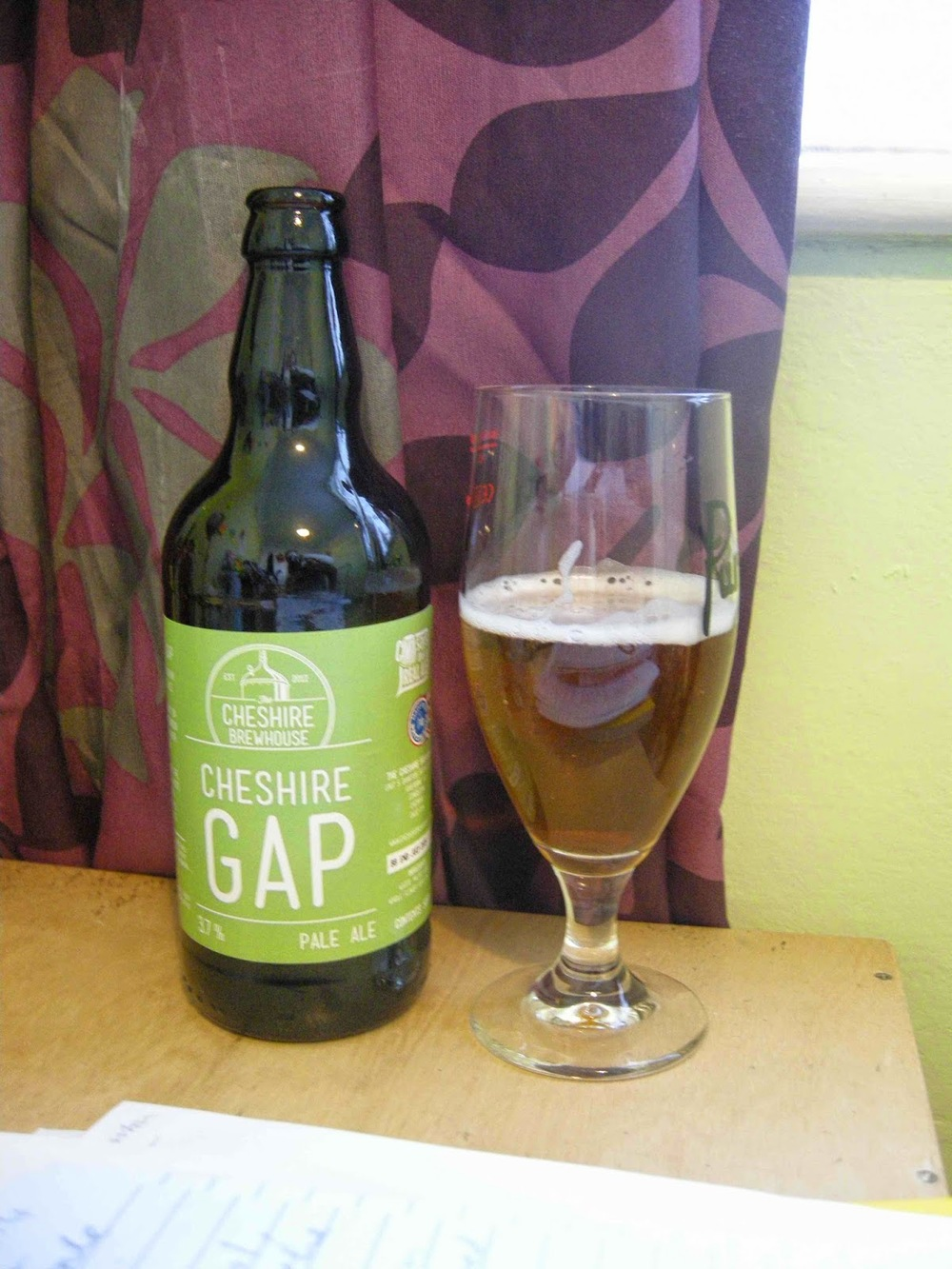 Cheshire Brewhouse Cheshire Gap pale ale (3.7%)