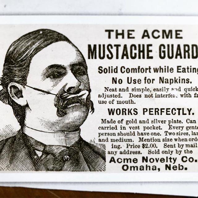 Great ad #moustache #moustacheguard