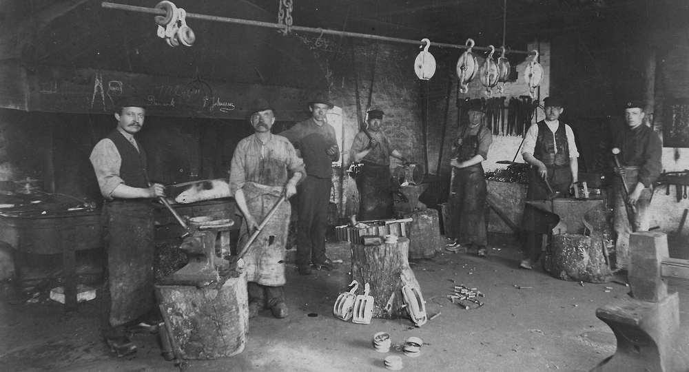 The H.J. Jacobsen workshopa century ago.