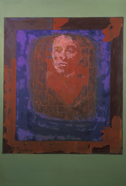 Bertha Louise Soule, Colby 1885. 2004.  Acrylic, pastel mixed with wax and solvent, oil/paper. 30 x 22.5 in.