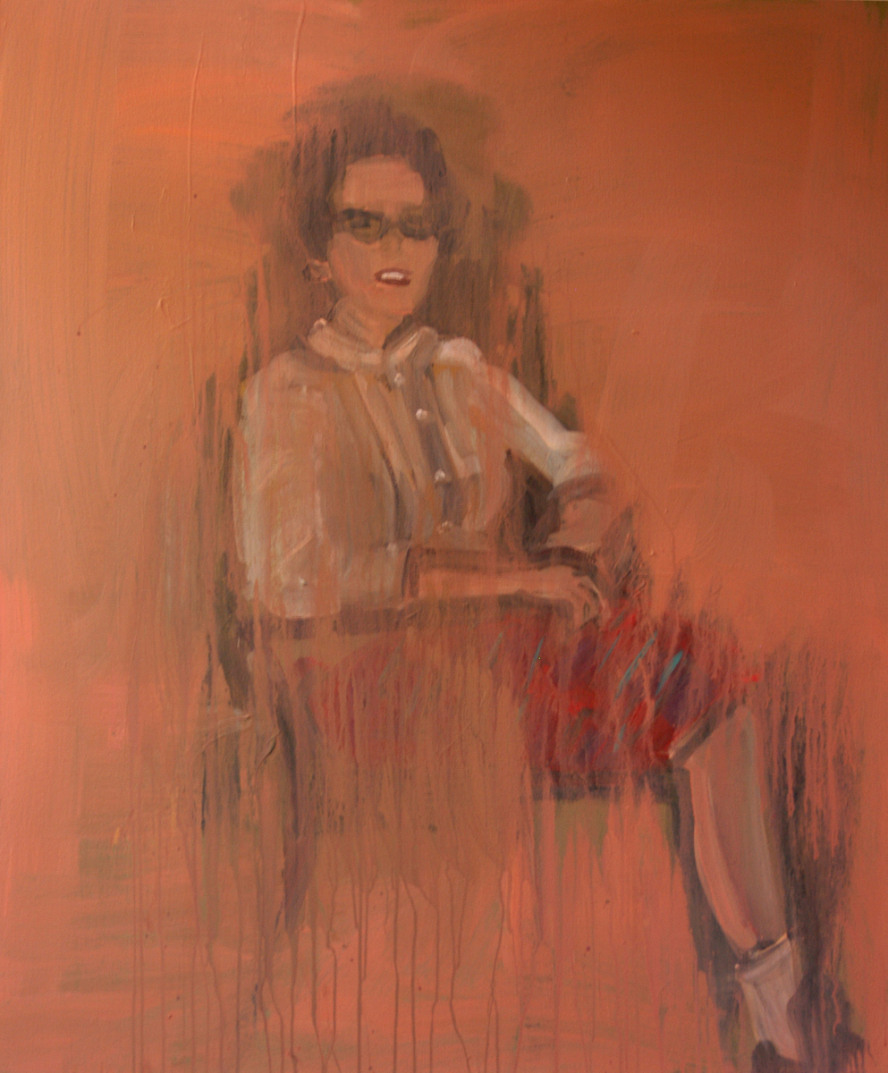 Jacqueline Ruth Nunez, Colby 1961, author of the anti-discrimination proposal for student organizations. 2010. Acrylic/canvas. 48 x 40 in.