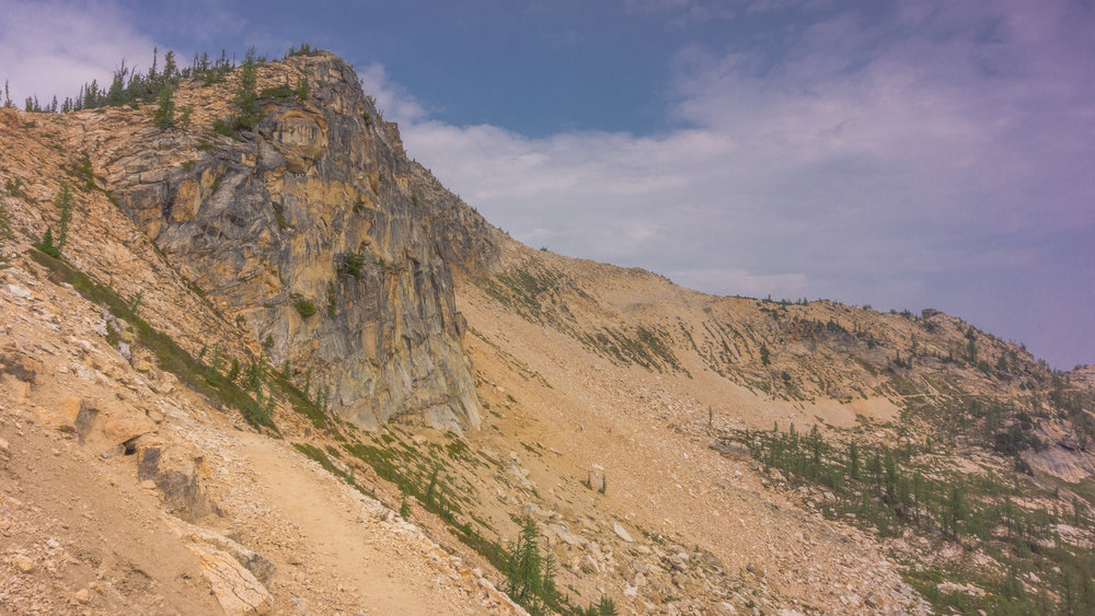 A little further exploration on the PCT. Look closely to spot the tiny hikers ascending the trail