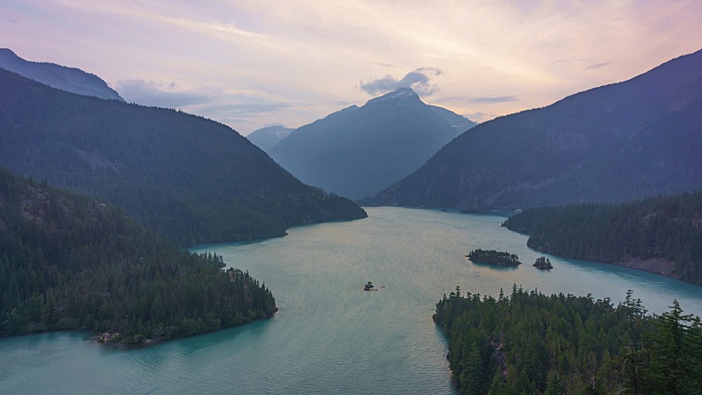 Sunset at Diablo Lake Overlook