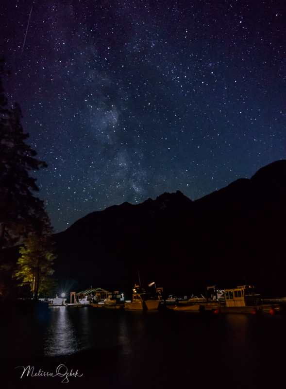 Milky Way over Lake Chelan in Stehekin